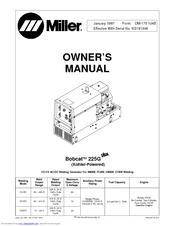 Lot miller bobcat 225 225g welder generator onan engine service.