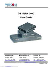 MINICOM DS VISION 3000 USER MANUAL Pdf Download