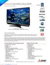 Mitsubishi DIAMOND 1080P Specification Sheet