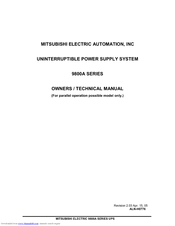 Mitsubishi Electric 9800A Series Owner Technical Manual