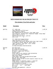 Mitsubishi Wd 57833 Manuals