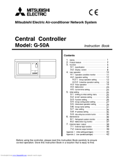 Mitsubishi Electric Central Controller G-50A Instruction Book