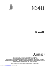 Mitsubishi Electric iMode M341i Owner's Manual