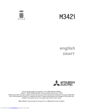 Mitsubishi Electric iMode M342i Owner's Manual