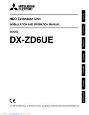 Mitsubishi Electric DX-ZD6UE Installation And Operation Manual