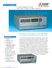 Mitsubishi Electric 16CH DIGITAL RECORDER DX-TL5000U Specification Sheet