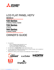 Mitsubishi Electric LT-40134 Owner's Manual