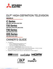mitsubishi wd 73735 manuals rh manualslib com Mitsubishi TV Manual WD- 60737 Mitsubishi TV Schematics