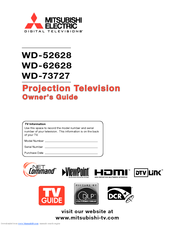 Mitsubishi Electric WD-73727 Owner's Manual