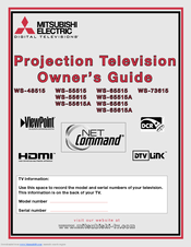 Mitsubishi Electric MEDALLION WS-55615 Owner's Manual