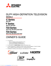 Mitsubishi Electric WD-57733 Owner's Manual