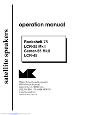 Manuals And User Guides For MK Sound Bookshelf 75 We Have 1 Manual Available Free PDF Download Operation