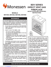Monessen Hearth Direct Vent Gas Fireplace BDV500 Manuals