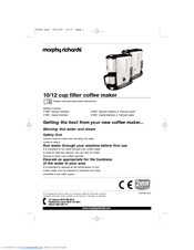 Morphy Richards Coffee Maker 47094 Instructions : Morphy Richards 47063 Manuals