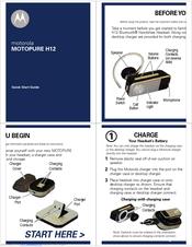 motorola motopure h12 quick start manual pdf download rh manualslib com motorola moto pure h12 bluetooth headset manual motorola moto pure h12 bluetooth headset manual