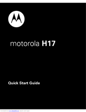 Motorola 89425P Quick Start Manual