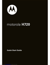 Motorola 8000202590-A Quick Start Manual