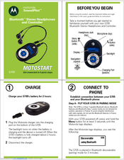 Motorola S705 - Soundpilot Quick Start Manual