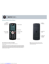 Motorola MOTOFONE F3 Getting To Know Manual