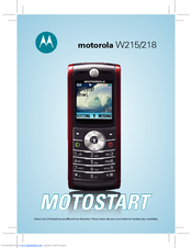motorola w218 manuals rh manualslib com Motorola DVR Manual Motorola Android User Manual