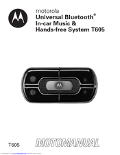 motorola t605 motomanual pdf download rh manualslib com Motorola Car Bluetooth Manual Motorola T305