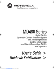 Motorola MD480 Series User Manual