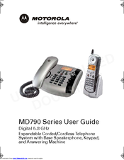 Motorola MD791 - Digital Cordless Phone User Manual