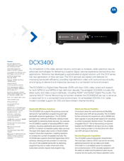 Motorola DCX3400 Product Manual (2 pages)