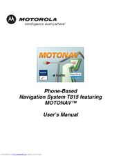 Motorola 89131N - Smartphone-Based GPS Navigation System T815 User Manual