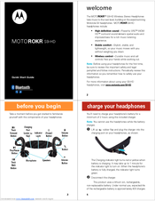 Motorola 89129N - MOTOROKR S9 - Headset Quick Start Manual