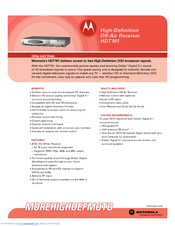 Motorola HDT101 Technical Specifications
