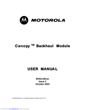 Motorola Canopy Backhaul Module User Manual