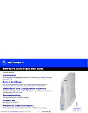 Motorola SB4200 - SURFboard - 38 Mbps Cable Modem User Manual