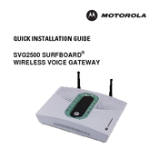 Motorola SURFboard SVG2500 Quick Installation Manual