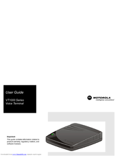 Motorola VT1003 User Manual