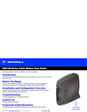 motorola sb5100 surfboard 38 mbps cable modem manuals rh manualslib com New Balance Manuals User Guide Icon