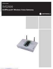Motorola SURFboard SVG2500 User Manual