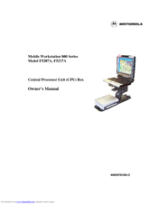 Motorola Mobile Workstation 800 F5207A Owner's Manual