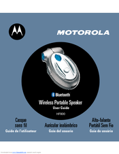 Motorola HF800 - Bluetooth hands-free Speakerphone User Manual