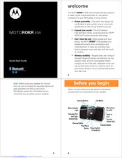 Motorola EQ5 Quick Start Manual