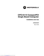 Motorola CPCI-6115 Installation And Use Manual
