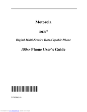 Motorola i55sr User Manual
