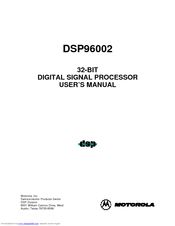 Motorola DSP96002 User Manual