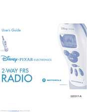 Motorola 2 Way FRS Radio User Manual