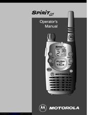 Motorola SPIRIT GT Operator's Manual