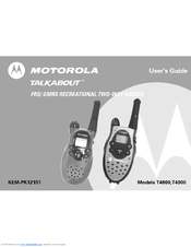 motorola talkabout t4900 manuals rh manualslib com motorola talkabout t6222 user manual motorola talkabout t5622 user manual