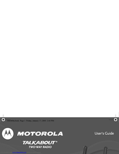Motorola Talkabout T5720 User Manual