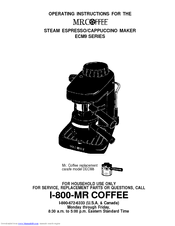 Mr. Coffee ECM91 Manuals