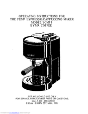 Mr Coffee Maker Instructions : Mr. Coffee ECMP3 Manuals