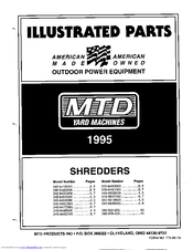 Manuals And User Guides For MTD Yard Machines 648B We Have 2 Available Free PDF Download Illustrate Parts List